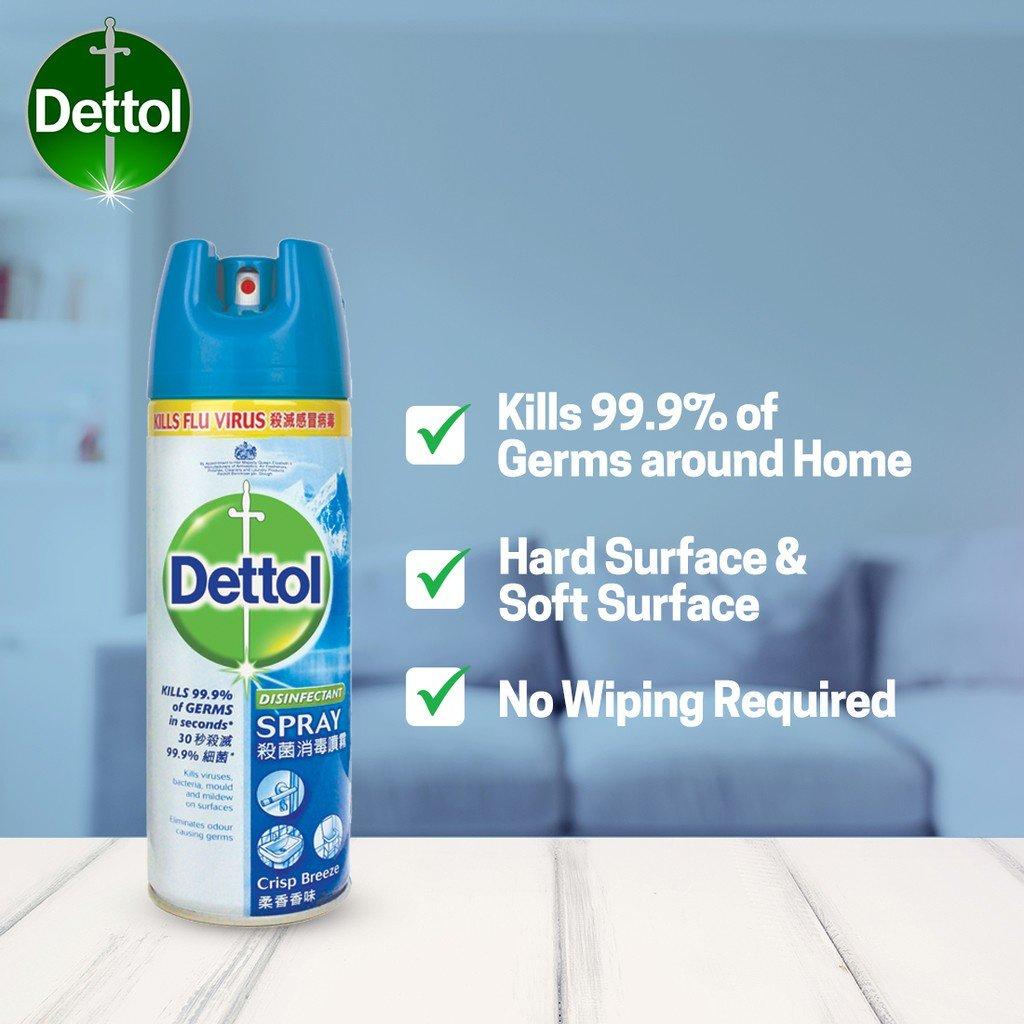 dettol disinfectant spray murah mudah berkesan