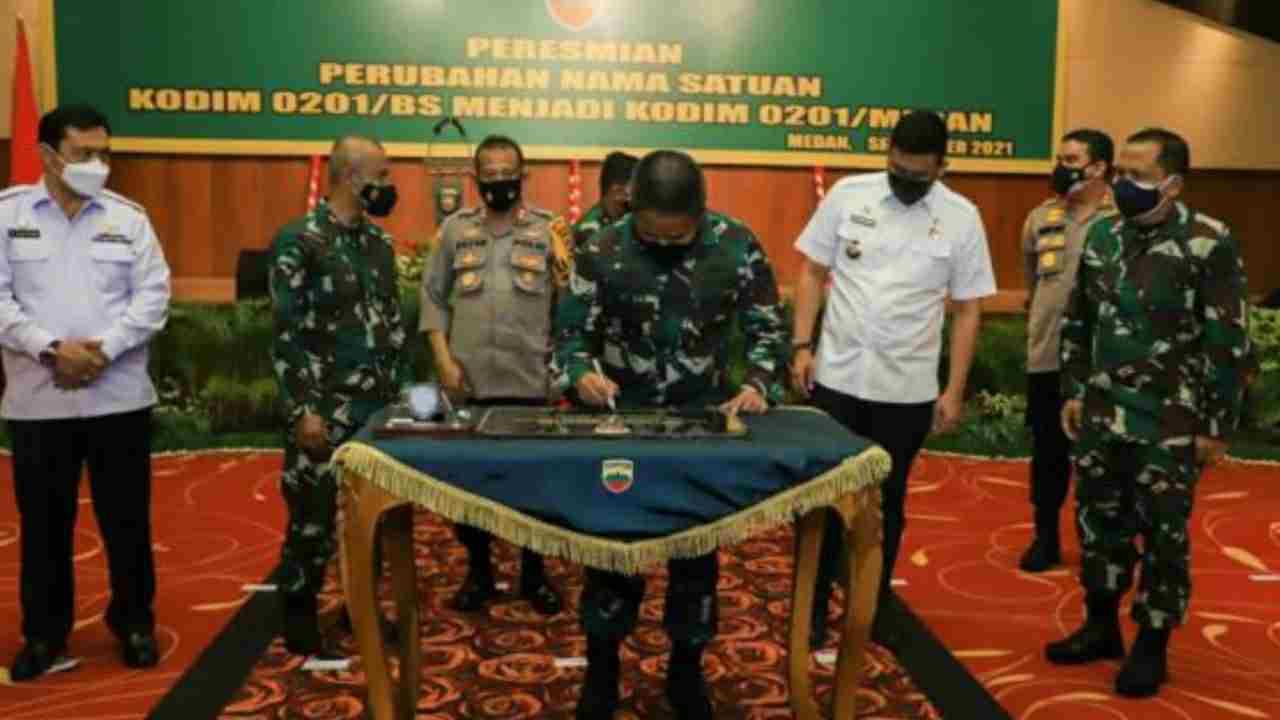 Pangdam I/BB Resmikan Perubahan Nama Satuan Kodim 0201/BS Menjadi Kodim 0201/Medan