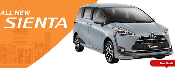 Warna Toyota All New Sienta Silver Metalic