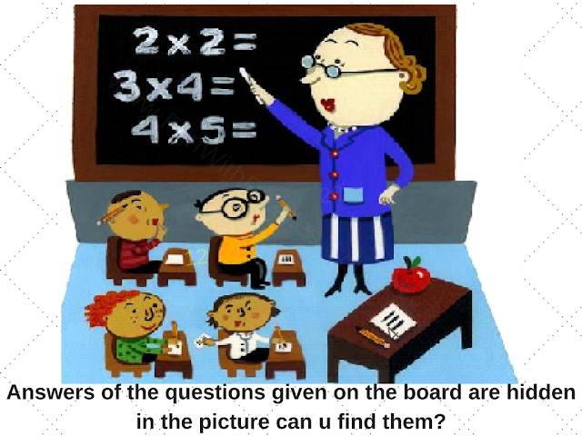 Hidden Math Answers Puzzle Image
