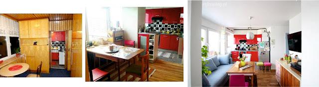 Remont mieszkania. Przed i po/