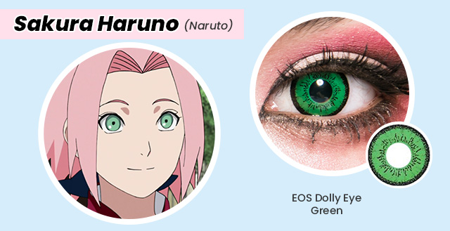 colored contacts for Sakura Haruno cosplay