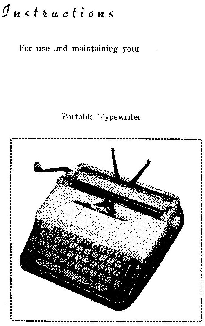 oz.Typewriter: Rexina's Mystery: The Typewriter That Goes