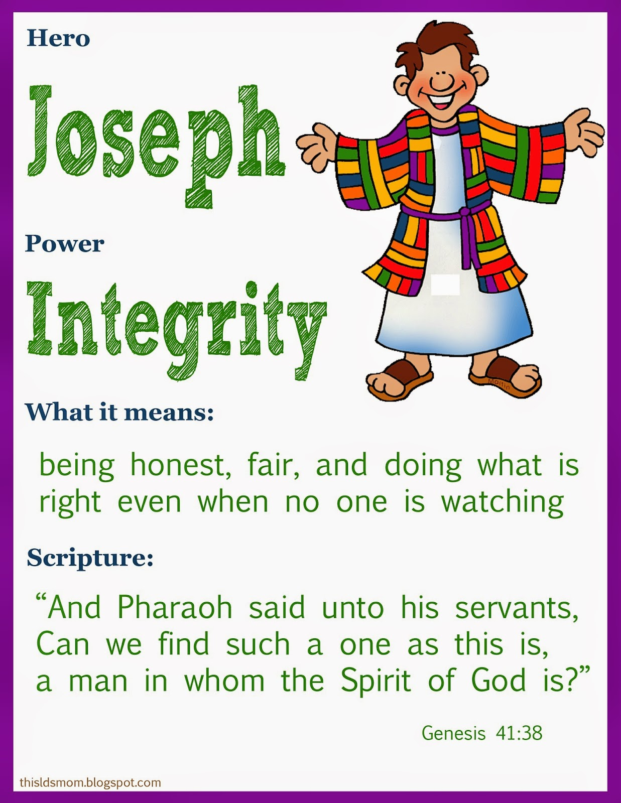 This Lds Mom Scripture Heroes Joseph Sold Into Eygpt
