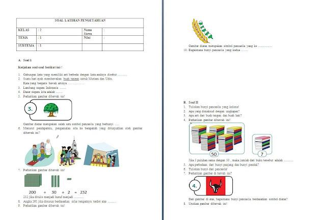 Soal PH Kelas 2 SD/MI: Tema 1