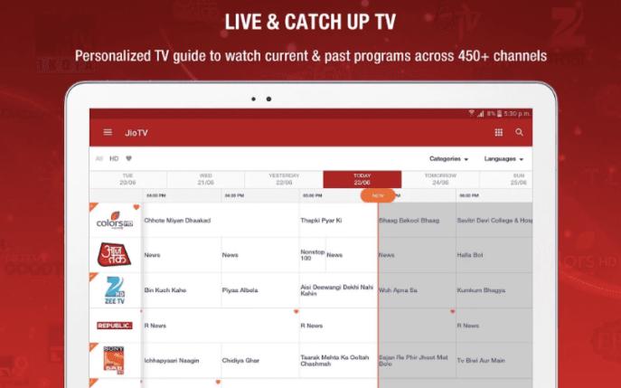 Live & Catch Up Tv