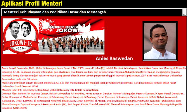 Aplikasi Profil Kementerian Jokowi-JK Untuk Pendidikan