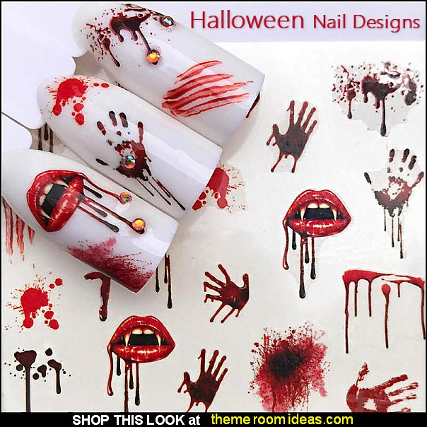 Halloween Nail Decals Halloween Nail Stickers Halloween themed nail designs - nightmare before Christmas nail design ideas - Halloween nail art - Nightmare Before Christmas Jack Skellington - Jack and Sally - creepy nails - spooky nail art design ideas - Horror themed nail decals - Spooky Graveyard nails