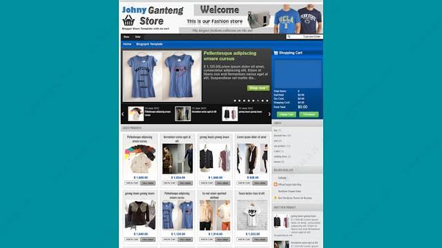 johny ganteng blogger template