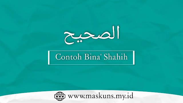 Contoh Bina' Shohih