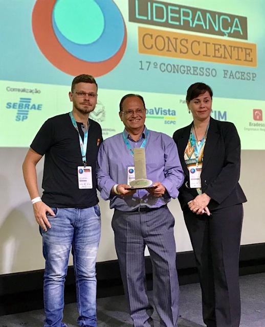 Pelo segundo ano consecutivo, ACIAR recebe prêmio de reconhecimento em congresso estadual da FACESP