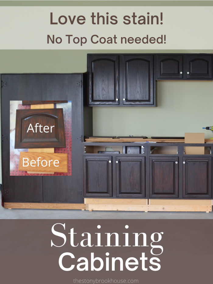 Staining Cabinets ~ Love This Stain!