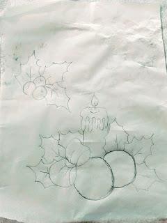 risco vela de natal e bolas para pintar