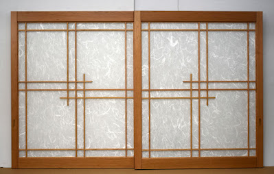 Custom Cherry Shoji screens.