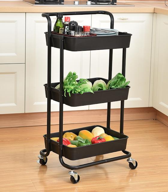 Trolley kitchen utility cart