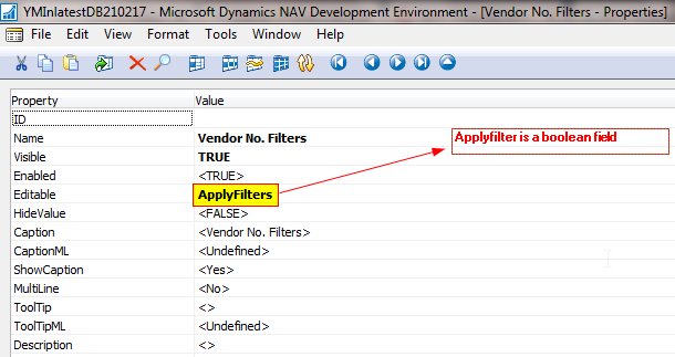 How to make afield editable in MS Dynamcs NAV 2016
