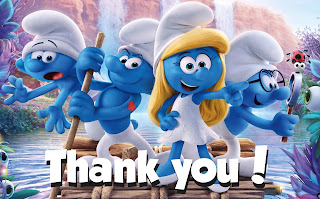 free printable smurfs: the lost village thank you cards