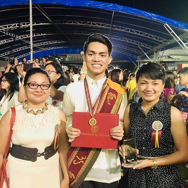 Chicharon vendor's son graduates magna cum laude
