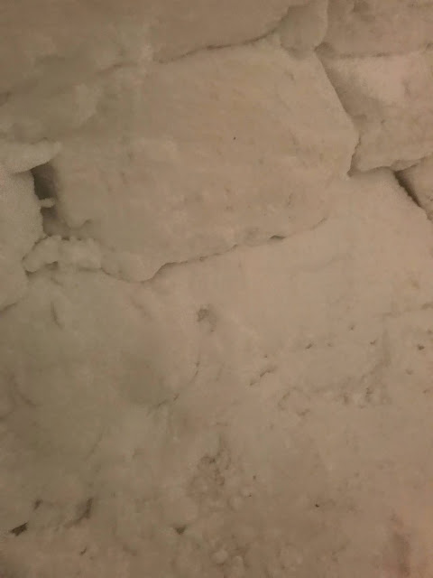 Inside of Igloo wall in Utqiaġvik (Barrow) Alaska built by Native Alaskan Inuit family (c) 2020 Supratim Sanyal