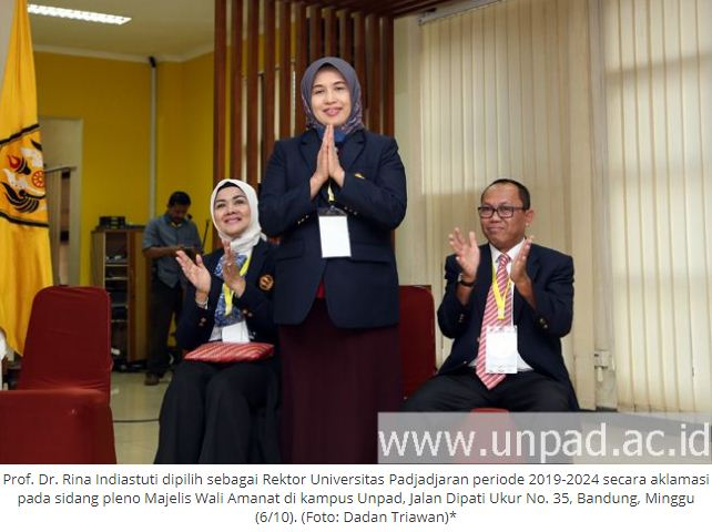 Rina Indiastuti Rektor Unpad 2019-2024