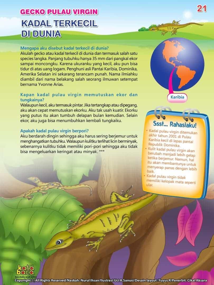 Kadal Gecko Pulau Virgin adalah Kadal Terkecil di Dunia