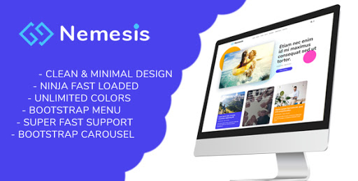Nemesis blogger template free download