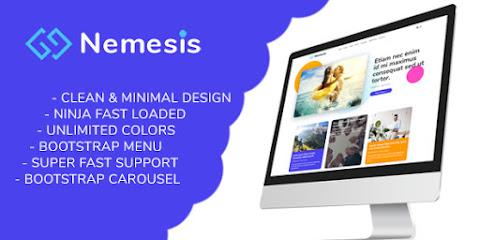 [ThemeForest] Nemesis Premium Responsive Minimal Blogger Template Free Download