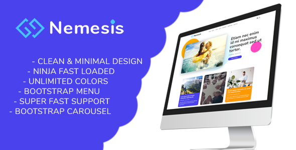 [ThemeForest] Nemesis Premium Responsive Minimal Blogger Template Free Download