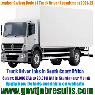 Leather Gallery Code 14 Truck Driver Recruitment 2021-22