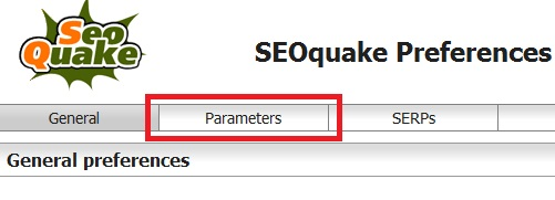 Pengaturan preferences SEO QUAKE