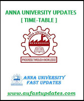 Anna University Nov Dec 2016 Jan 2017 Time Table UG PG 1st 3rd 5th 7th Semester Exam