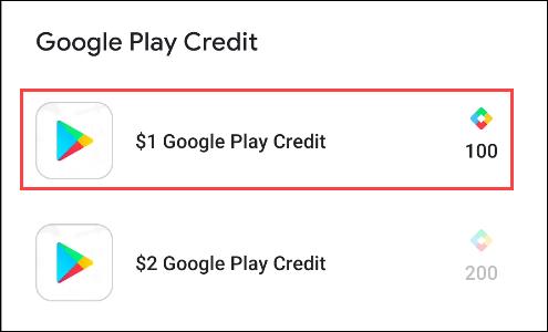 نقاط google play للحصول على رصيد