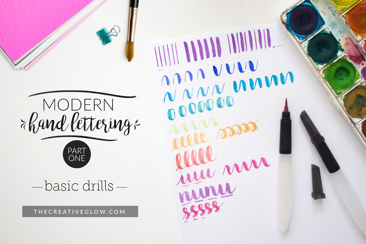 Modern brush lettering series part basic drills