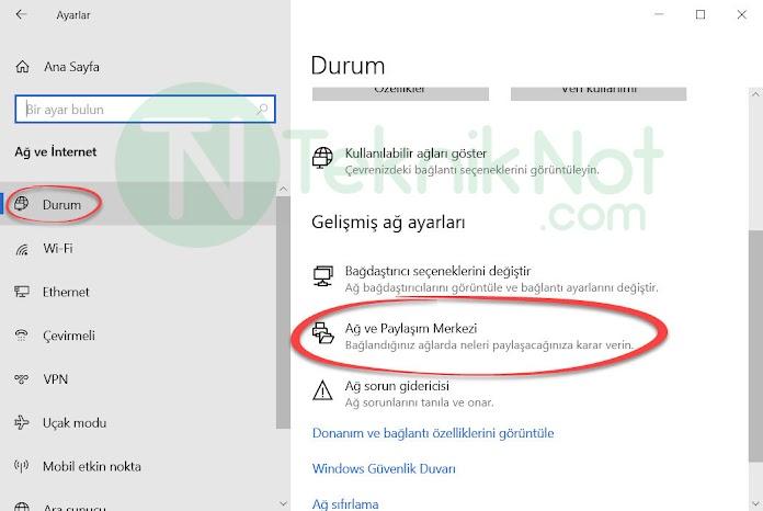 Windows 10 Wifi Şifresi Öğrenme