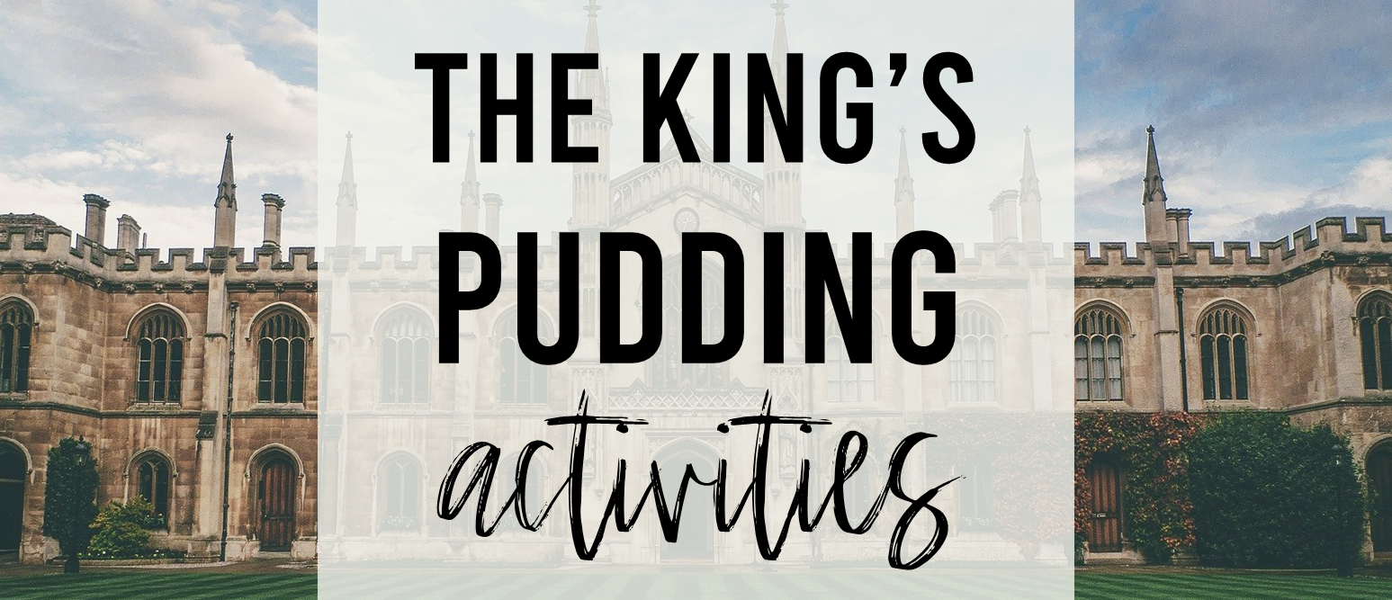 The King's Pudding book activities for Kindergarten and First Grade