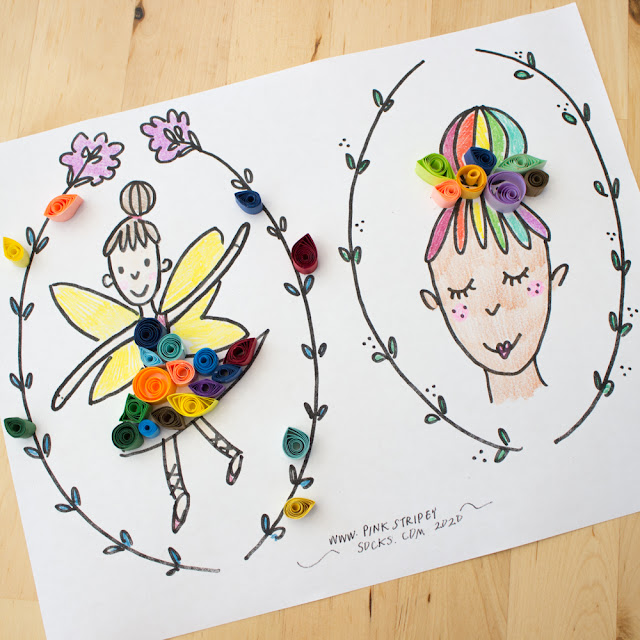 Make Easy Paper Quilled Fairies with Kids- Fairy Printable included
