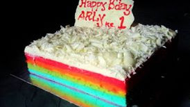 Resep Kue : Mini Rainbow Cake
