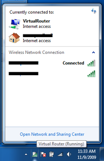 virtual router connection