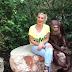 Monkey Is Flirting A Girl