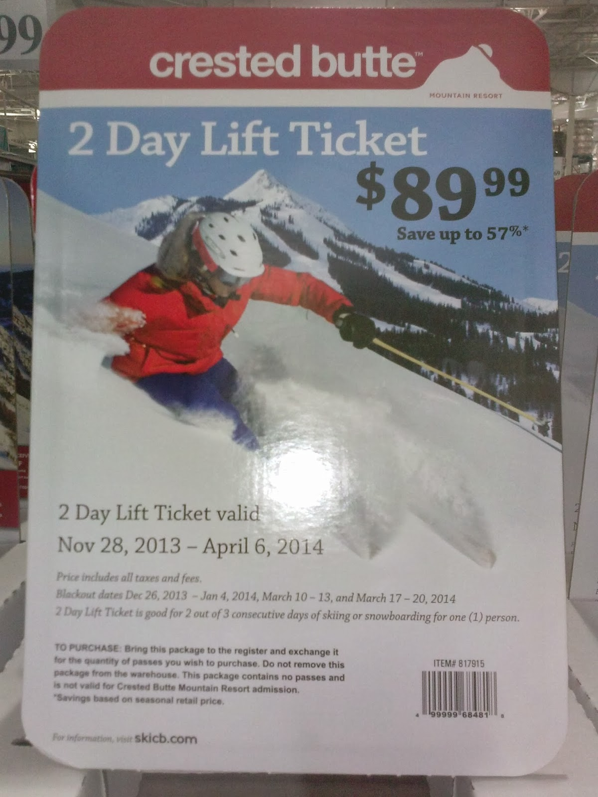 Lift Ticket Vail Colorado Ski Deals And Bargains: Costco Discount Lift