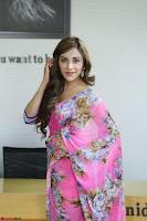 Angela Krislinzki Rogue Movie Fame Telugu Actress in Saree Backless Choli 078.JPG