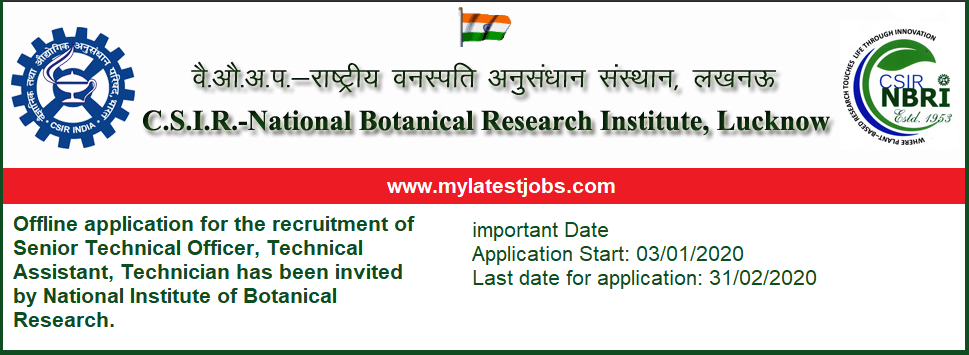 NBRI- recruitment