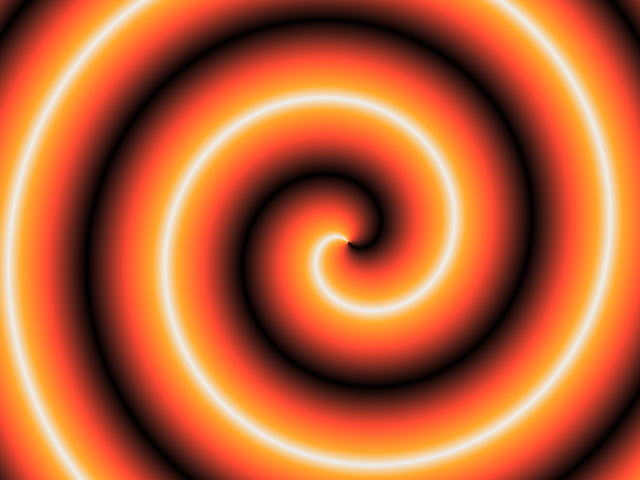The Incredibly Strange Horror Bloggers Network orange spiral