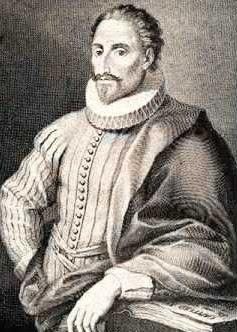 Imagen de Miguel de Cervantes Saavedra posando