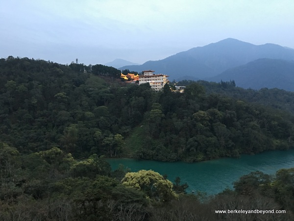 view of Wenwu Temple from guest room at Fleur de Chine, Sun Moon Lake hotel
