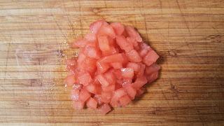 Tomate triturado en close-up.