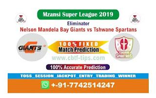 Who will win Today MSL 2019, Eliminator Match Tshwane vs Nelson - Cricfrog