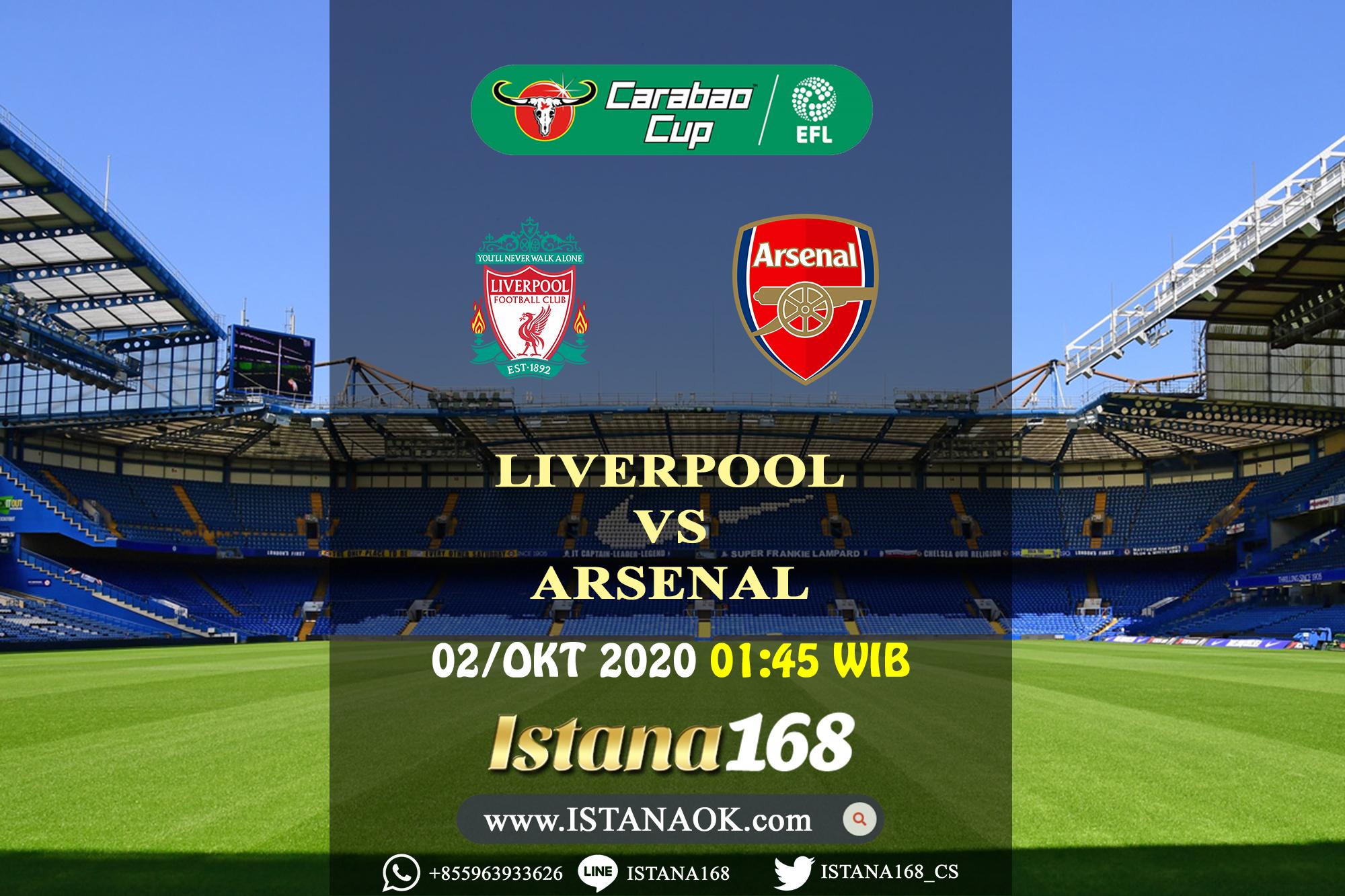 Prediksi Bola Akurat Istana168 Liverpool Vs Arsenal 02 Oktober 2020