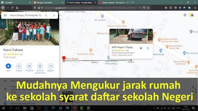 Cara mengukur jarak rumah ke sekolah dengan google map