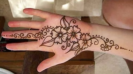 Simple Mehndi Design hand Images 2019